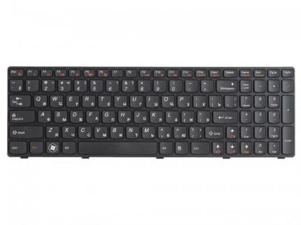 Клавиатура для ноутбука Lenovo IdeaPad G580, G585, Z580, Z580A, Z585, Z780, черная с рамкой, гор. Enter
