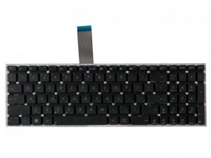 Клавиатура для Asus X501, X550, X551, F552, X550Ea, X550Cc, X501A, X501U, X550L, X550La, X550Lb, X551C, X550Ca, X550Vb, X550Vc, F552C, F552Cl, черная, контакты вверх, без рамки, гор. Enter OEM