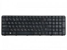 Клавиатура для ноутбука HP Pavilion 15, 15-a, 15-e, 15-g, 15-n, 15-r, 250 G3, 255 G3, 256 G3, черная с рамкой, гор. Enter
