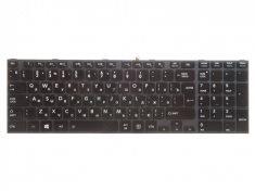Клавиатура для ноутбука Toshiba Satellite P850, P855, p870, p870d, p875, p875d, черная с серой рамкой, с подсветкой,  верт. Enter
