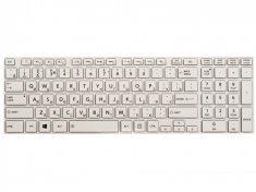 Клавиатура для ноутбука Toshiba Satellite S50, S55, S55A, S55T-A, L50D-A, L70-A, S50-A, S50D-A, S70-A, S70D-A, S70T-A, S75-A, S75D-A, S75T-A, белая с рамкой, гор. Enter