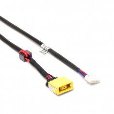 Разъем питания PJ585 для ноутбука Lenovo IdeaPad G400, G500, G505 Series. 11x4.5 mm с иглой. C кабелем 23 см