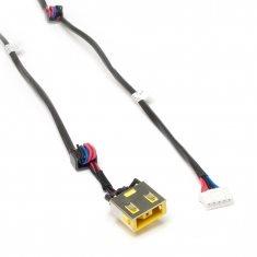 Разъем питания PJ585L для ноутбука Lenovo IdeaPad G400, G500, G505 Series. 11x4.5 mm с иглой. C кабелем 23 см