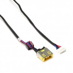 Разъем питания PJ585M для ноутбука Lenovo IdeaPad G400S, G405S, G490 Series. 11x4.5 mm с иглой. C кабелем 23 см