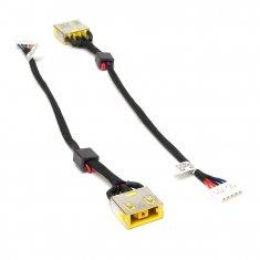 Разъем питания PJ608 для ноутбука Lenovo IdeaPad G400, G490, G500, G505 Series. 11x4.5 mm с иглой. С кабелем 14.5 см