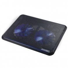 """Подставка для ноутбука CROWN CMLC-202T black до 17"""" (140мм *2шт; LED подсветка; USB)"""