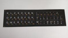 Наклейки на клавиатуру черные непрозрачные